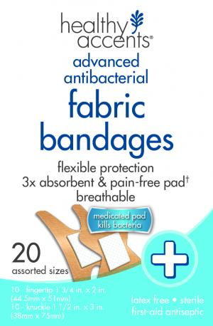 Healthy Accents Fabric Knuckle & Finger Tip Bandages