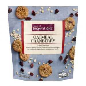 Taste Of Inspirations Oatmeal Cranberry Mini Cookies