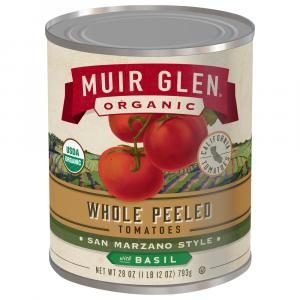 Muir Glen Organic Whole Peeled Tomatoes With Basil