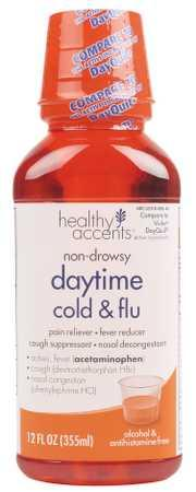 Healthy Accents Non-Drowsy Daytime Cold & Flu Liquid