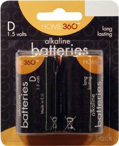 Home 360 D Alkaline Batteries