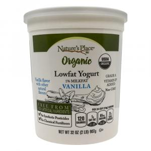 Nature's Place Organic Vanilla Low Fat Yogurt
