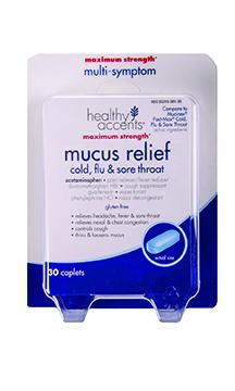 Healthy Accents Mucus Relief Cold, Flu & Sore Throat