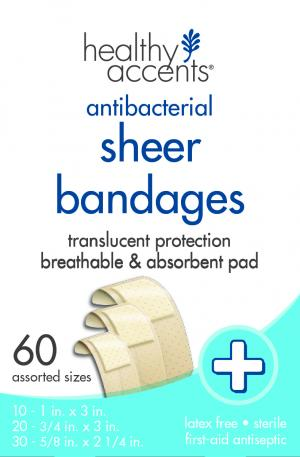 Healthy Accents Assorted Sheer Bandages