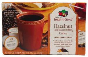 Taste Of Inspirations Hazelnut Coffee Single Serve Cups