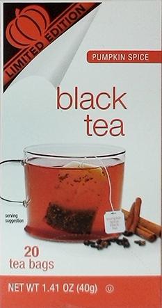 Limited Edition Pumpkin Spice Black Tea Bags