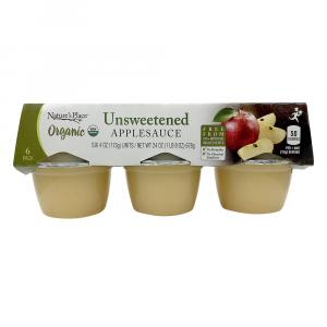 Nature's Place Organic Unsweetened Apple Sauce 6-pack