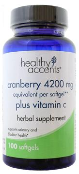 Healthy Accents Cranberry 4200 MG plus Vitamin C