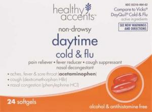 Healthy Accents Daytime Cold & Flu Softgels