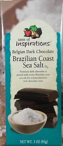 Taste Of Inspirations Dark Chocolate Sea Salt Bar