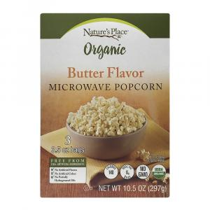 Nature's Place Organic Butter Microwave Popcorn