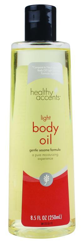 Healthy Accents Light Body Oil Gentle Sesame Formula
