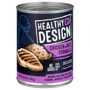 Healthy By Design Chicken + Rice Formula Dog Food Pate