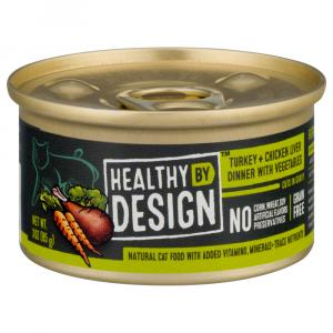 Healthy By Design Turkey + Chicken Liver Dinner Cat Food