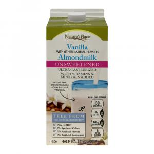 Nature's Place All Natural Unsweetened Vanilla Almondmilk