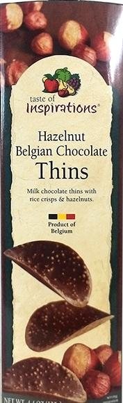 Taste Of Inspirations Hazelnut Belgian Chocolate Thins