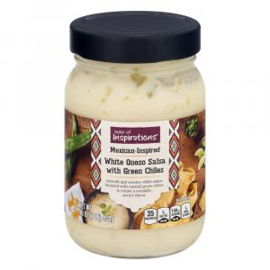 Taste of Inspirations White Queso Salsa with Green Chiles