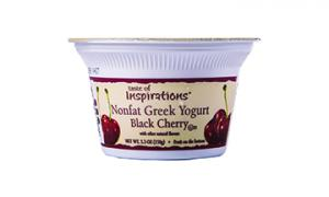 Taste Of Inspirations Nonfat Greek Yogurt Black Cherry