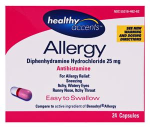 Healthy Accents Diphedryl Capsules