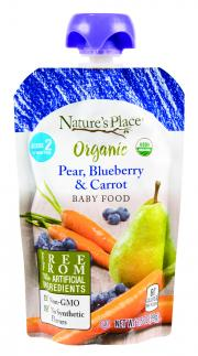 Nature's Place Organic Pear, Blueberry & Carrot Baby Food