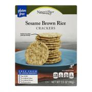 Nature's Place Sesame Brown Rice Crackers