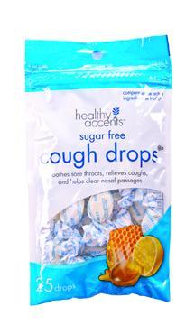 Healthy Accents Sugar Free Honey Lemon Cough Drops
