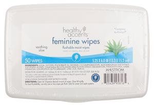 Healthy Accents Feminine Flushable Moist Wipes