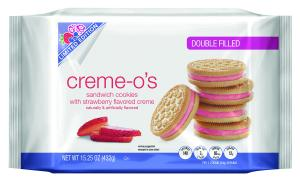 Creme-O Vanilla Strawberry Creme Double Filled Cookies