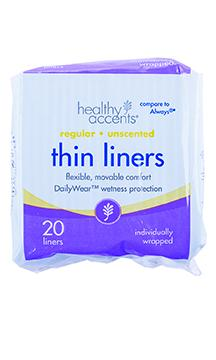 Healthy Accents Thin Liners Individually Wrapped