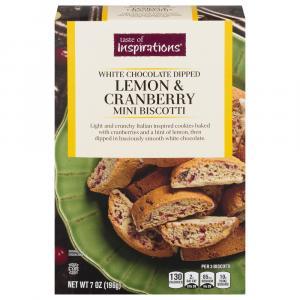 Taste of Inspirations Lemon & Cranberry Mini Biscotti