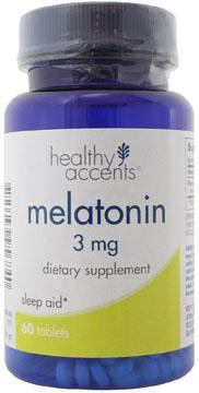 Healthy Accents Melatonin 3 mg Tablets