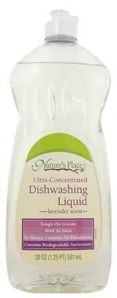 Nature's Place Lavender Scent Liquid Dish Detergent