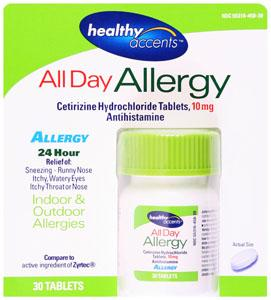 Healthy Accents Allergy Tablets 10mg
