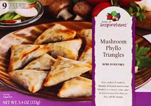 Taste Of Inspirations Mushroom Phyllo Triangles