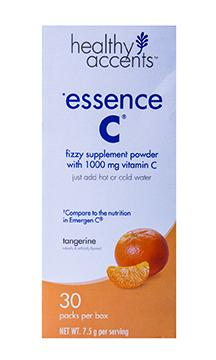 Healthy Accents Essence C 1000mg Tangerine Supplement Powder