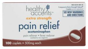Healthy Accents Extra Strength Acetaminophen Caplet 500 Mg