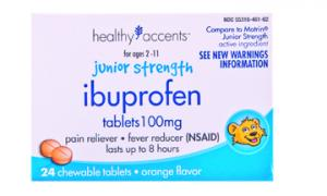 Healthy Accents Junior Strength Ibuprofen Chewable Caplets