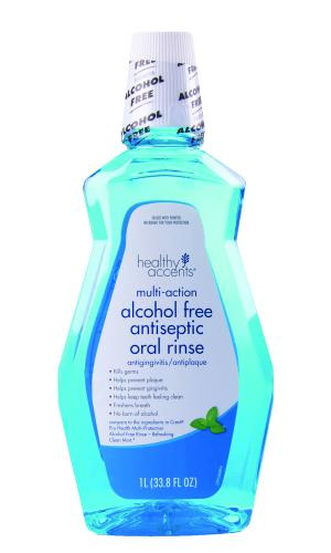 Healthy Accents Alcohol Free Antiseptic Oral Rinse Mint