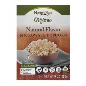 Nature's Place Organic Natural Microwave Popcorn