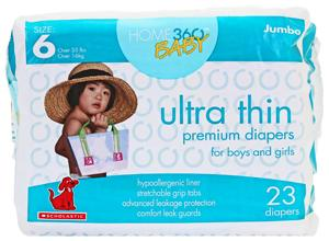 Home 360 Baby Ultra Thin Size 6 Jumbo Diapers