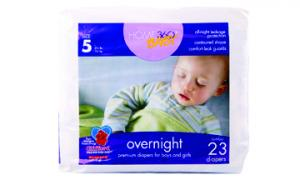 Home 360 Baby Overnight Size 5 Jumbo Diapers