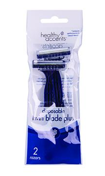 Healthy Accents Mens Disposable Twin Blade Plus