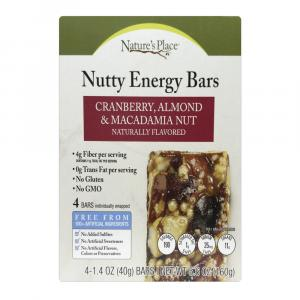Nature's Place Nutty Cranberry almond & MacadamiaEnergy Bar