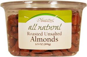 Nature's Place All Natural Roasted Unsalted Almonds