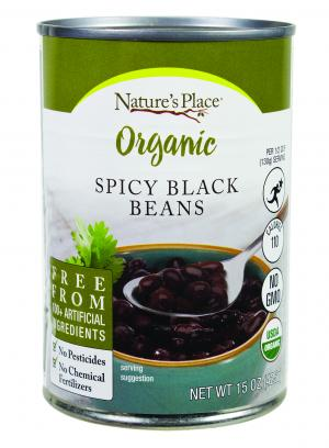 Nature's Place Organic Spicy Black Beans