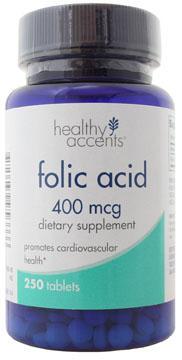 Healthy Accents Folic Acid 400 Mcg