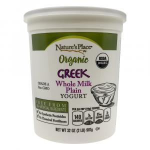 Nature's Place Organic Greek Whole Milk Plain Yogurt