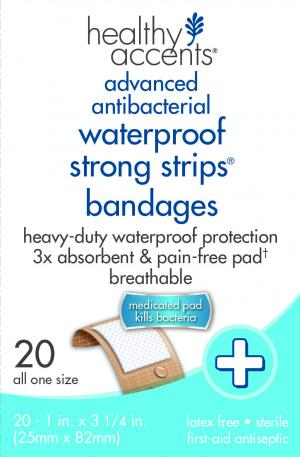 Healthy Accents Waterproof Strong Strips