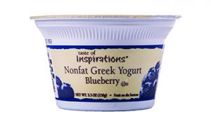 Taste Of Inspirations Nonfat Greek Yogurt Blueberry