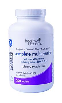 Healthy Accents Complete Multi Senior Tablets